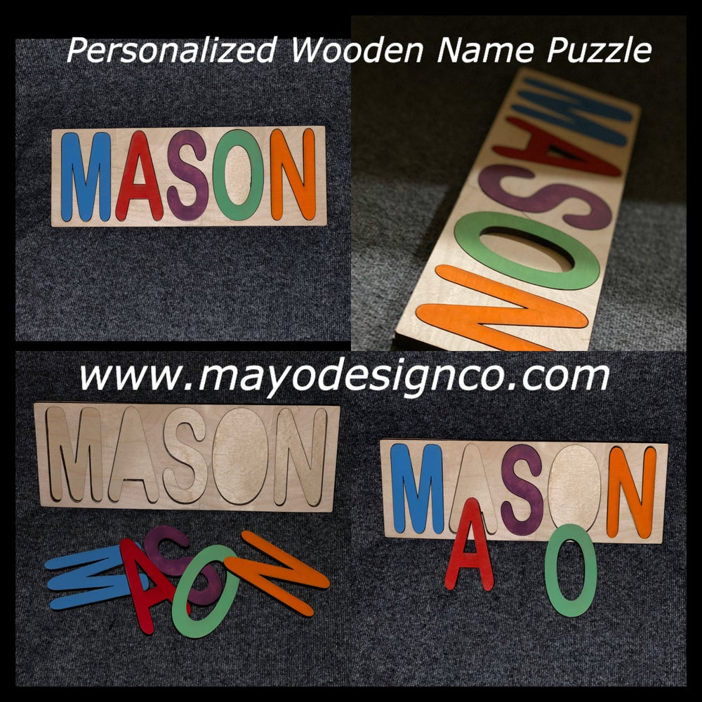 Image of Personalized Wooden Name Puzzle