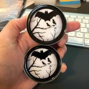 """Flying Bat Plugs (sizes 2g-2"""")"""