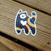 Image of Space Rainbow Kitten Sticker