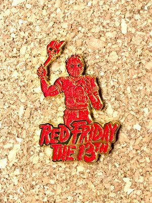 Image of Red Friday the 13th Pin