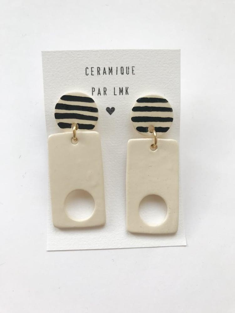 Image of Paire de boucles d'oreilles céramique Haus 2