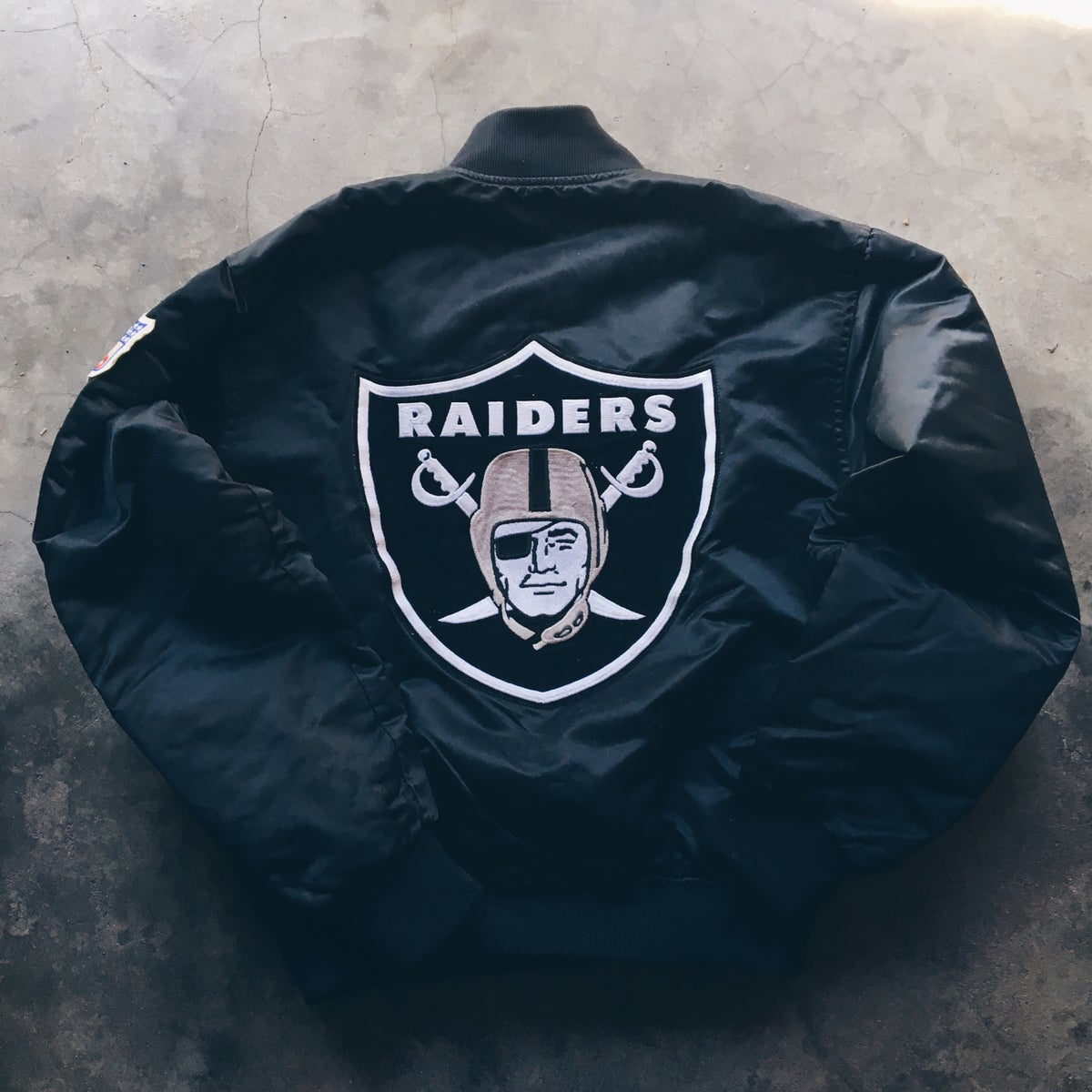 Image of Original Late 80's Oakland Raiders Satin Jacket.