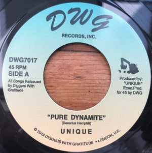 "Image of Unique - Pure Dynamite / Axe Maniac 7"" black vinyl"