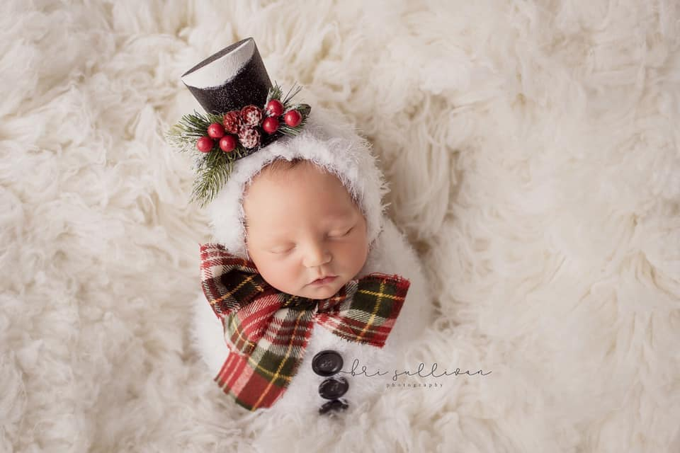Image of Whimsy Snowman Swaddle Pouch