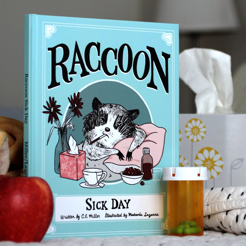 Image of Raccoon Sick Day