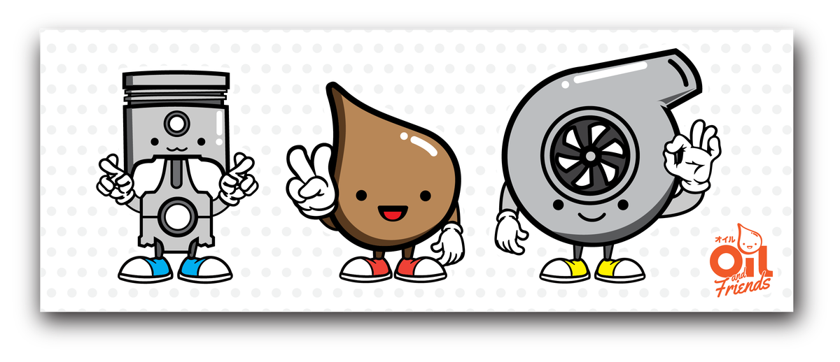 Image of Oil and Friends Sticker Sheet