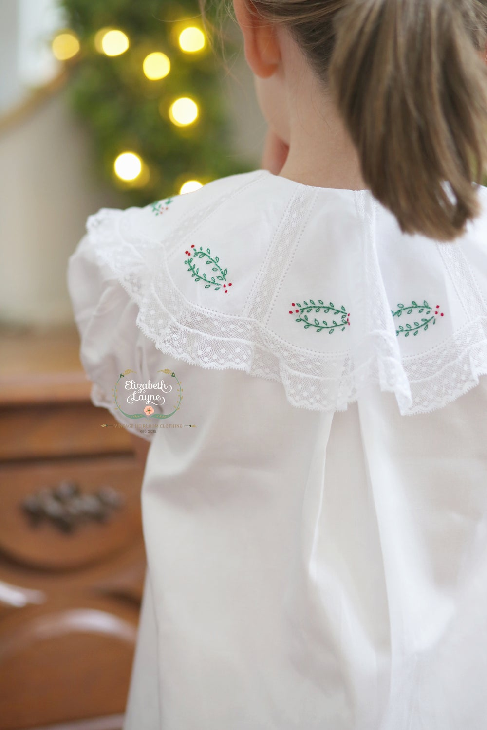 Image of Girl's Noelle Sateen Christmas Collar Collection