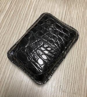 "Image of ""Cigar"" Bombé card-holder - Black Crocodile KeepAll #2"