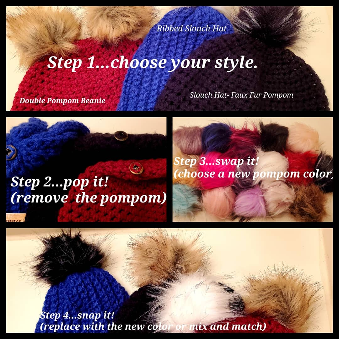Image of Faux Fur Pompom - Single