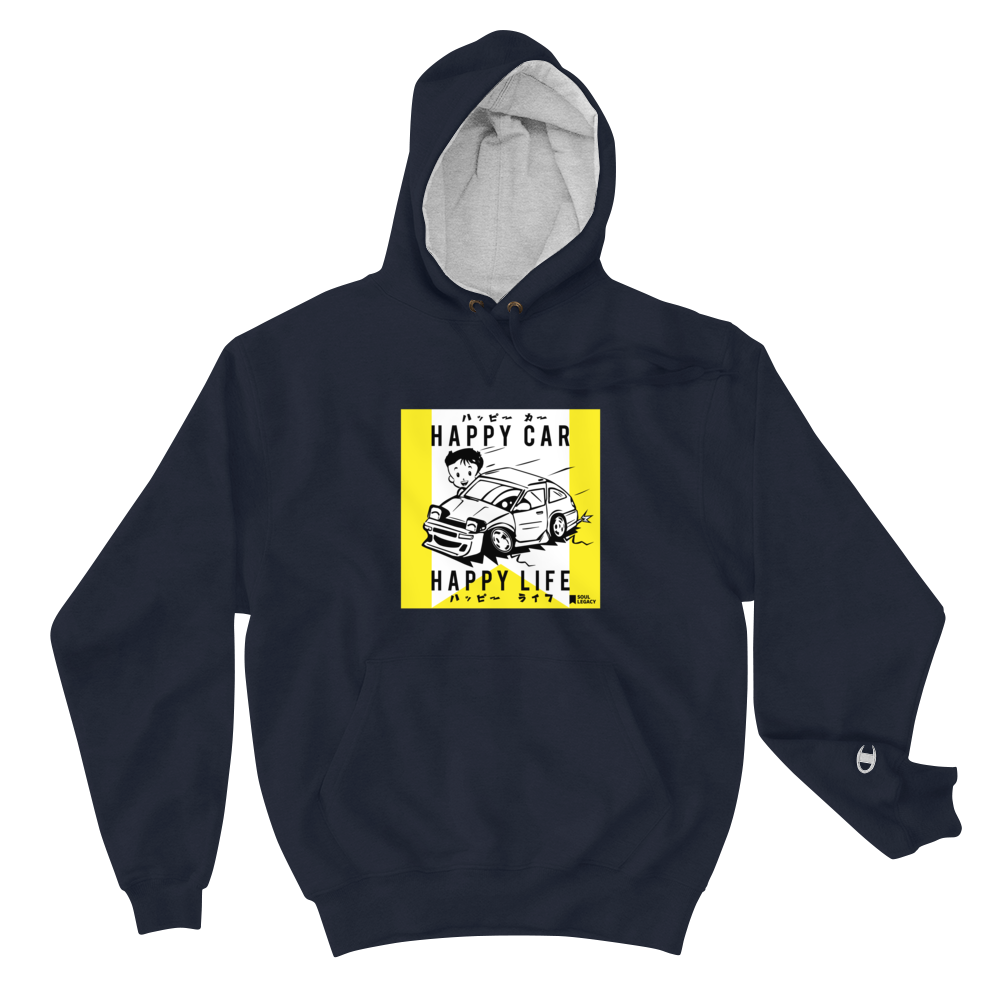 "Image of SOUL LEGACY ""Happy Car"" Champion Hoodie"