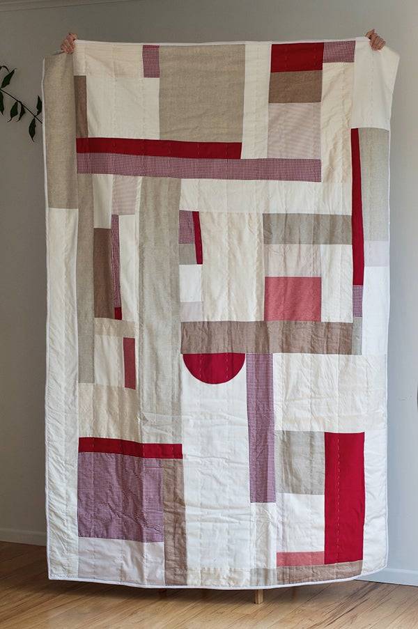 Image of Handmade Quilt, Tomato [Single bed]