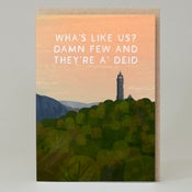 Image of Wha's like us (Card)