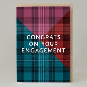 Image of Congrats on your engagement Tartan (Card) TN037