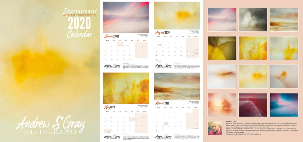 Image of 2020 A3 Wall Calendar by Andrew S. Gray