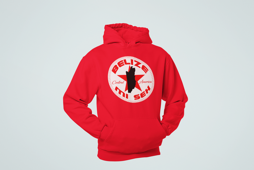 Image of BELIZE MI SEH HOODIE/CREWNECK - RED/BLACK