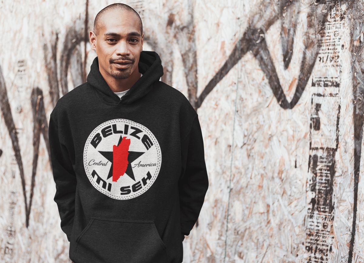 Image of BELIZE MI SEH HOODIE/CREWNECK - RED/BLACK