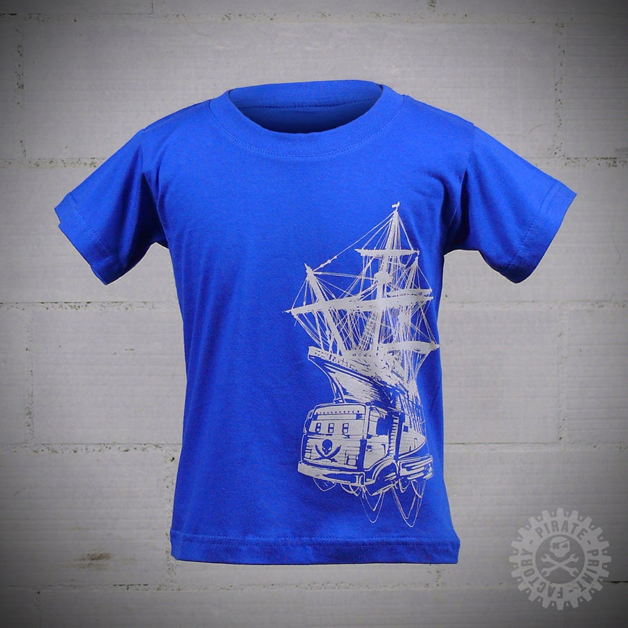 Image of T-SHIRT PIRATE BOAT KID BLEU
