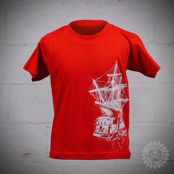 Image of T-SHIRT PIRATE BOAT KID ROUGE