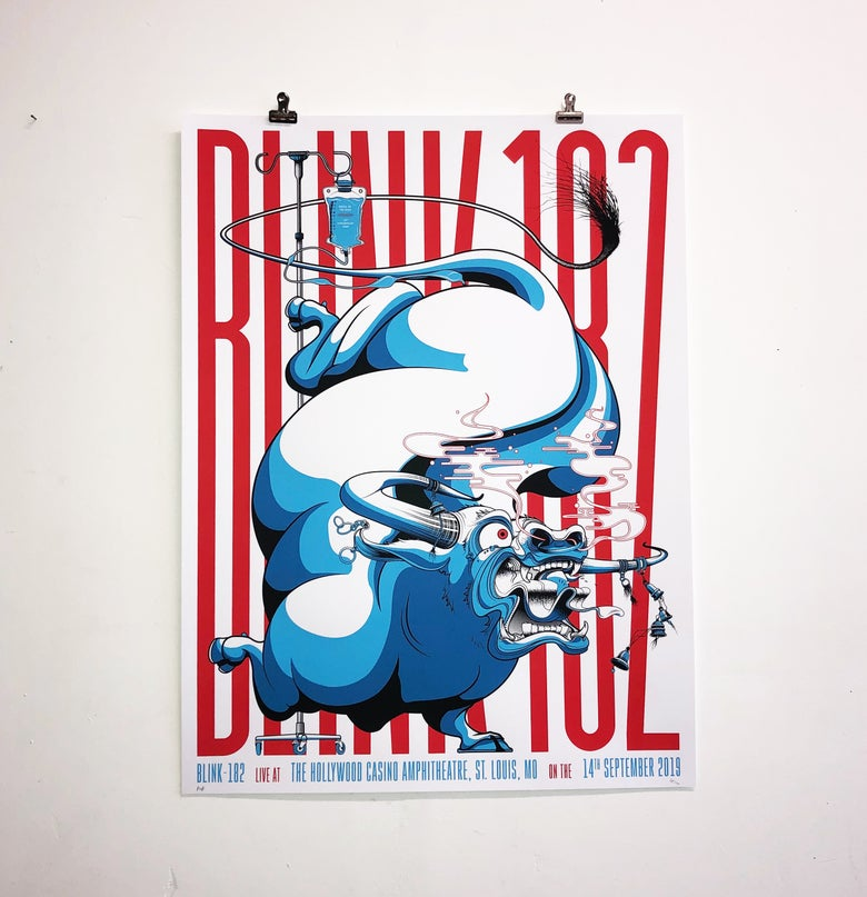 Image of BLINK-182 Screenprint: ST LOUIS 14.09.19