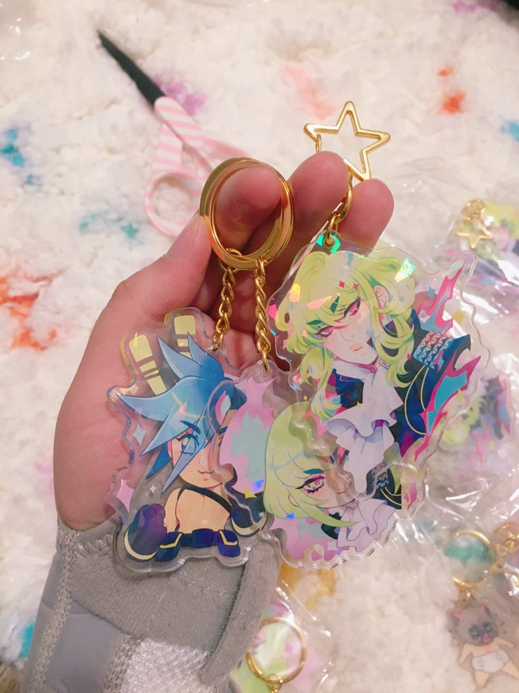Image of promare charm holographic charms