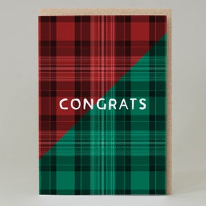 Image of Congrats Tartan (Card) TN032