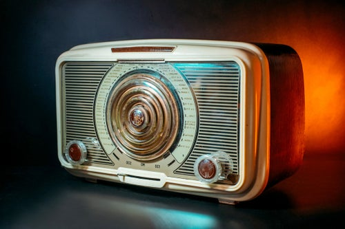 Image of ALLOCCHIO BACCHINI MOD.415 (1955) RADIO D'EPOCA BLUETOOTH
