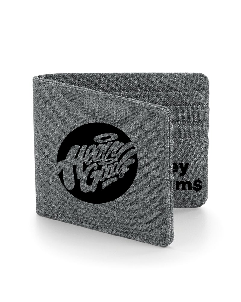 "Image of Heavy Goods ""Mo' Money Mo' Problems"" Wallet Grey"