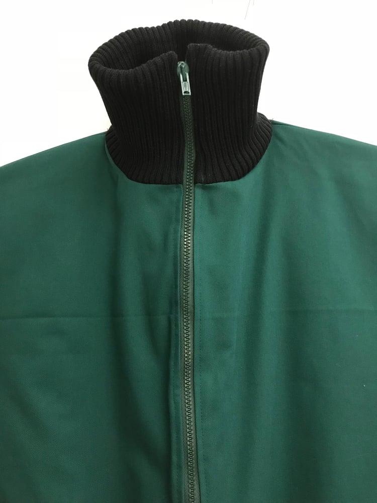 Image of Mørkegrøn heldragt i twill med termo foer