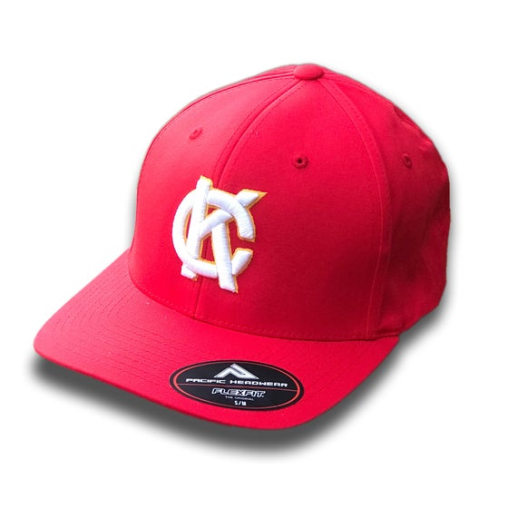 Image of KC Monogram Fitted Hat | Red
