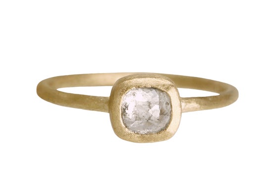 Image of Rose cut grey engagement ring. 18k. Françoise