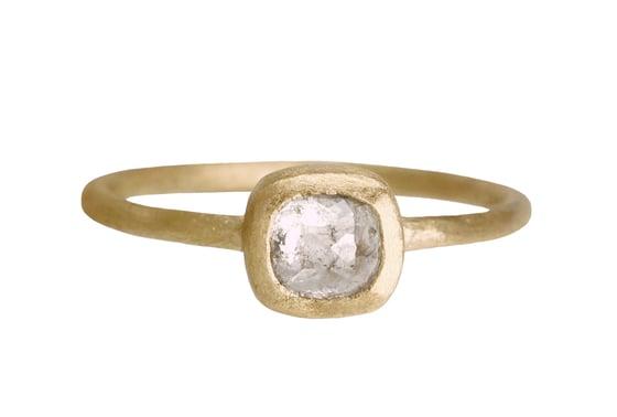 Image of Rose cut grey engagement ring. 18k. Françoise