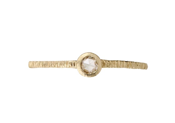 Image of Bark ring. A simple engagement ring. 18k. France