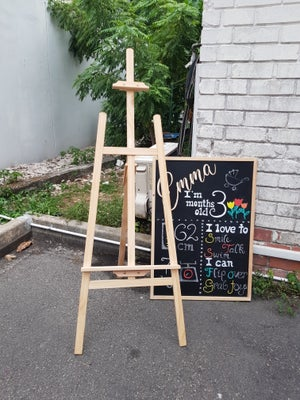 Big Chalkboard with Wooden Frame (62.5cm X 88.5cm)