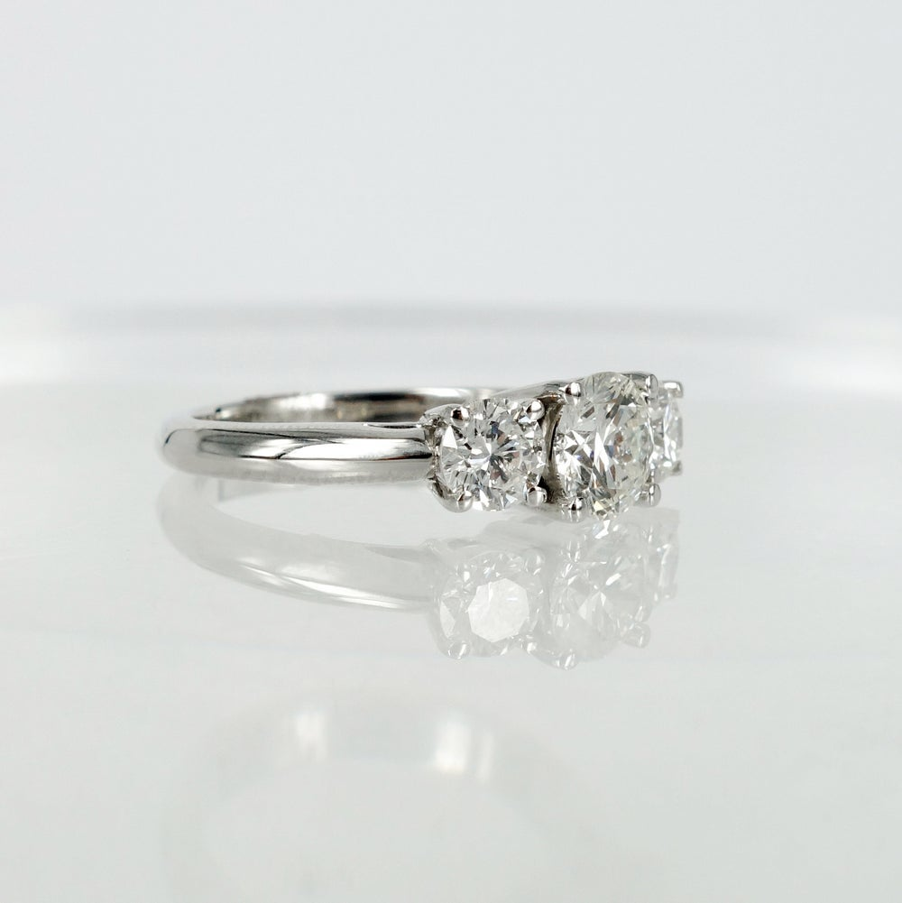 Image of PJ5624 Three stone diamond trilogy style ring
