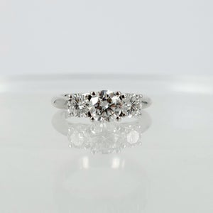 Image of Three stone diamond trilogy style ring