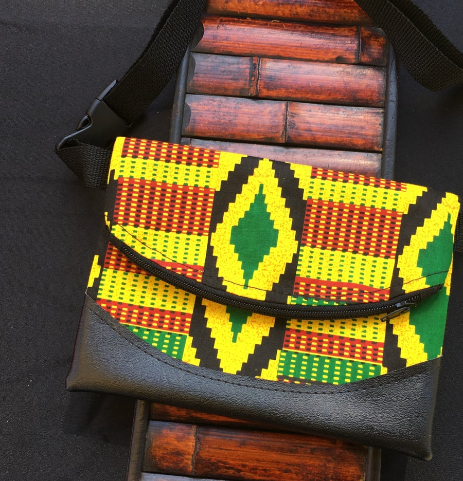 Image of Designs By IvoryB Fanny Pack-Kente Yellow Ankara African Print