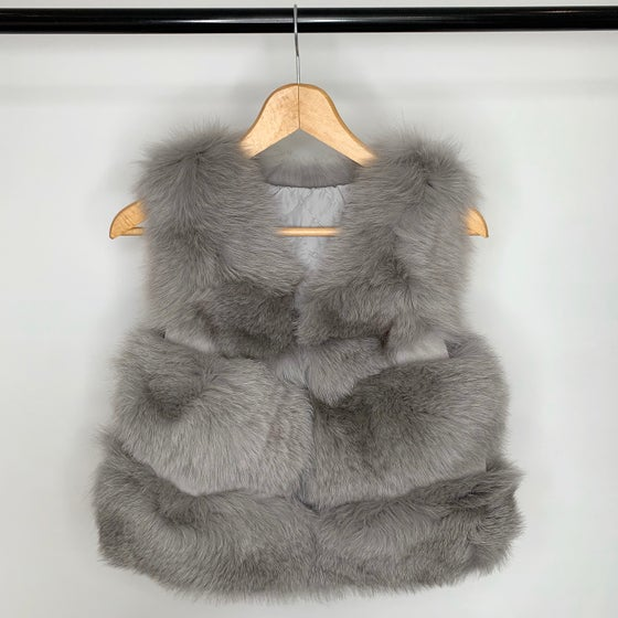 Image of Luxury Grey Fur Gilet