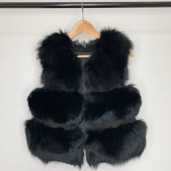 Image of Luxury Black Fur Gilet