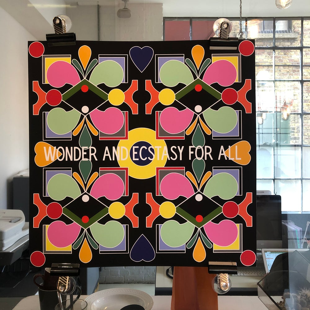 Wonder And Ecstasy For All, 2019 50cm2 and 12inch Print
