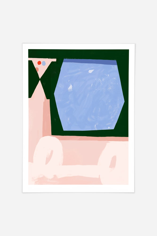 Image of Poolside Fine art print
