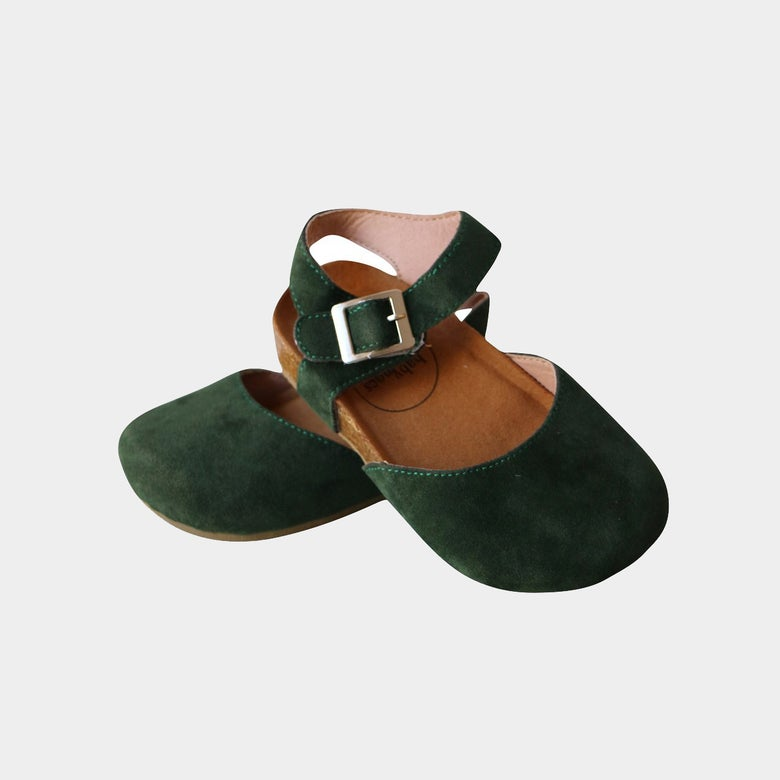 Image of Sandals Astrid Forest Green