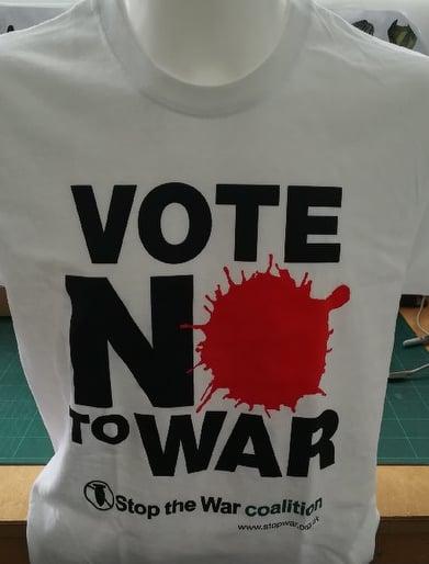 Image of Vote No To War T-Shirt