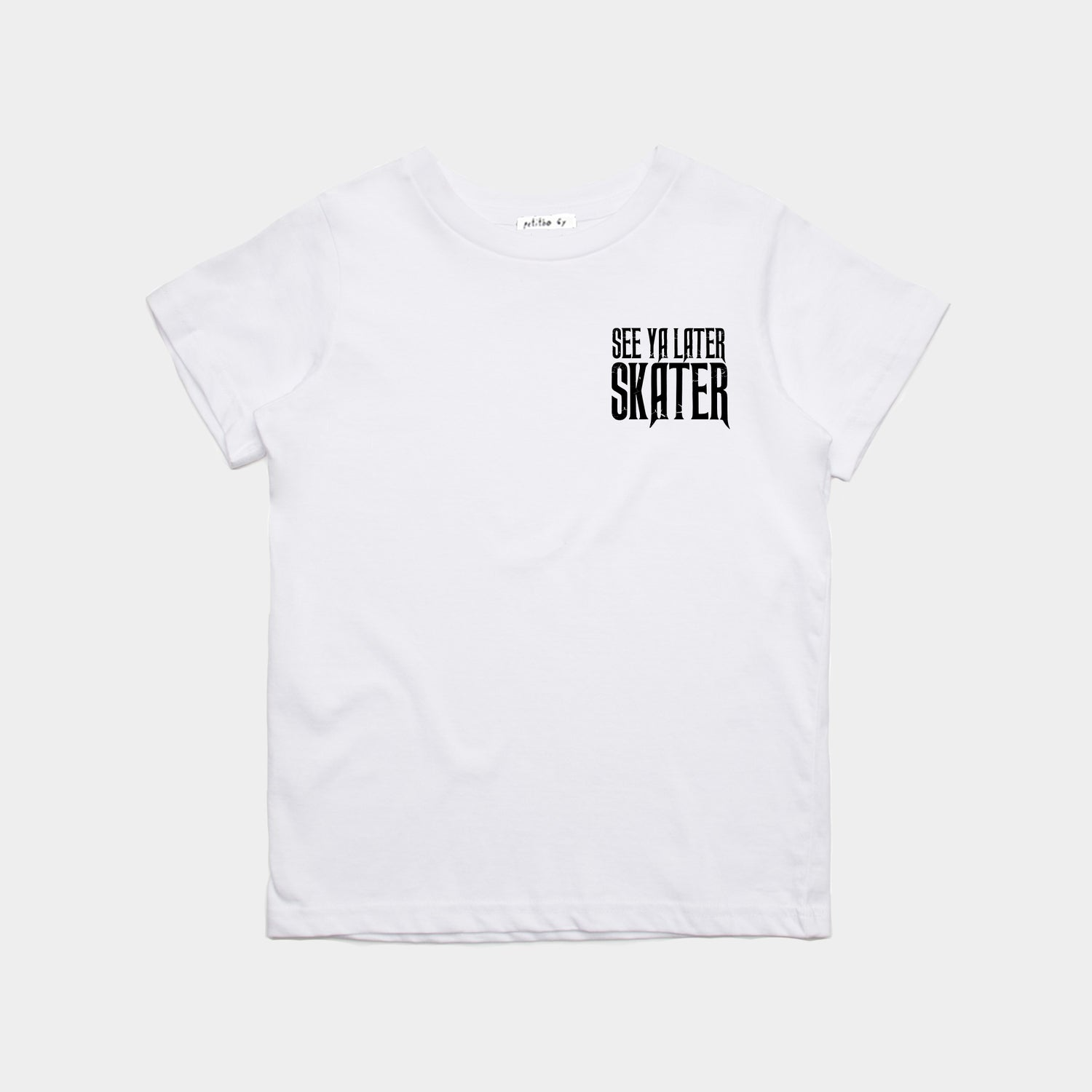 Image of T-Shirt See Ya Later Skater White