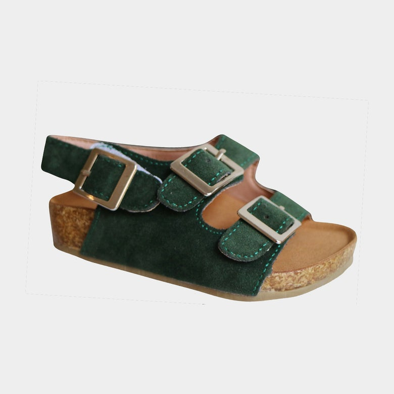 Image of Vacay Sandals Forest Green