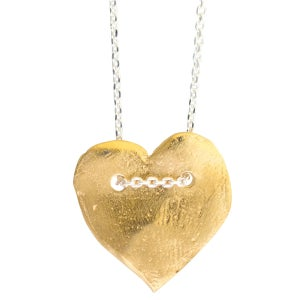 Image of Valentina heart charm necklace