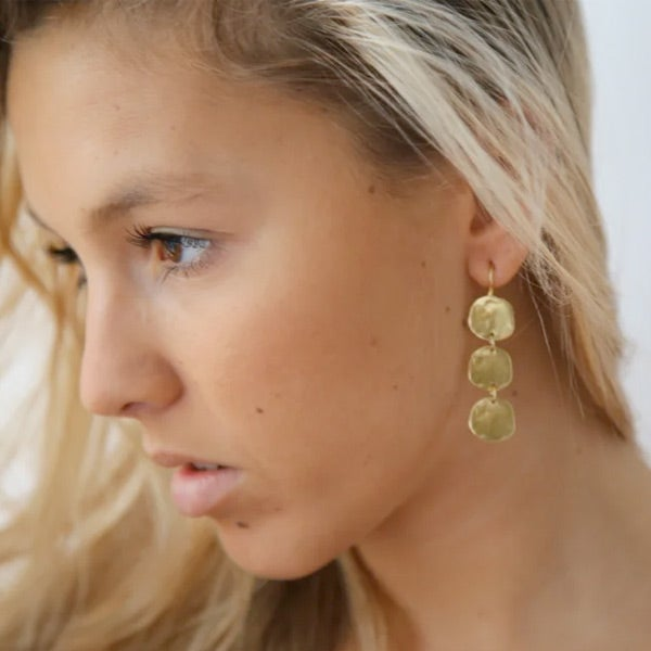 Image of Lola triple disc earrings