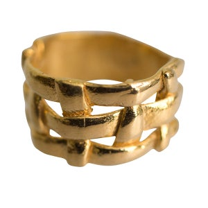 Image of Sterling silver or gold-plated Formentera ring