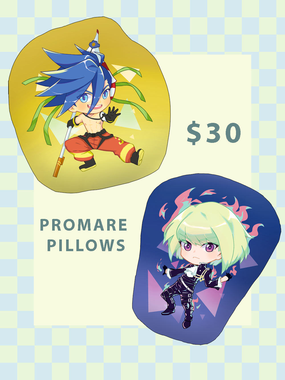 Image of 🔥 PROMARE 🔥 Charms & Pillows - PREORDER