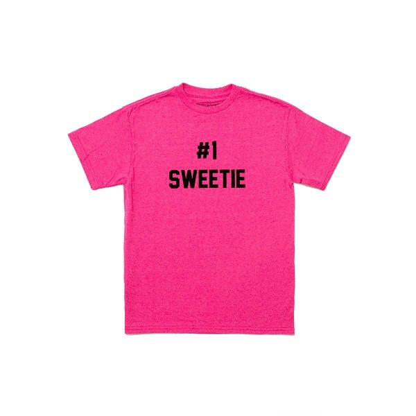 Image of NEW Number One Sweetie Tee Pink