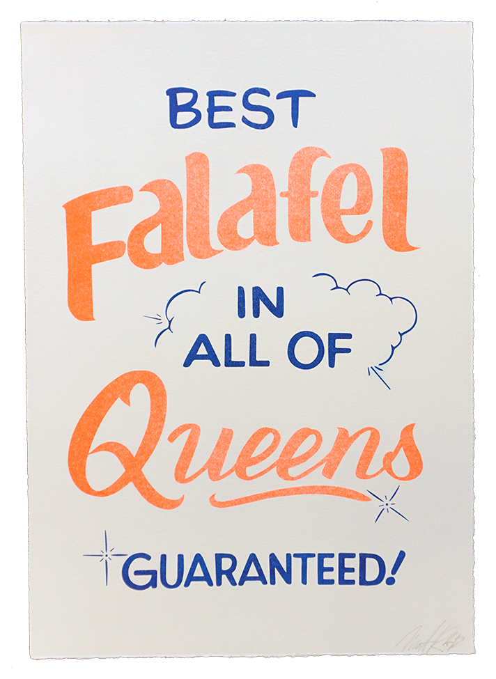 """Image of """"Falafel"""" Risograph Print by Mat Heavy"""